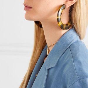NWT $90 Cult Gaia acrylic Hoop Earrings Hoops